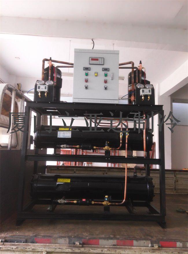 食用菌冷水机及冷库机组出货安装